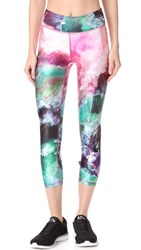 Terez Crystal Healing Tall Band Capri Leggings Multi