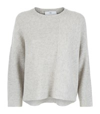 Allude Boxy Cashmere Sweater Female Light Grey