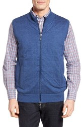 Peter Millar Men's Dockside Vest Indigo Blue