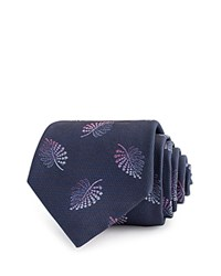 Thomas Pink Quiller Palm Woven Classic Tie Navy Pink