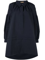 Peter Jensen 'Artist' Smock Dress Blue