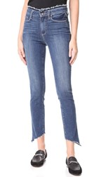Paige Frayed Hoxton Ankle Peg Jeans Fray With Angled Frayed Hem