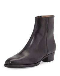 Gravati Leather Side Zip Ankle Boot Black Size 38.5B 8.5B