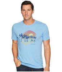 Life Is Good Sunset Palms Crusher T Shirt Carolina Blue T Shirt