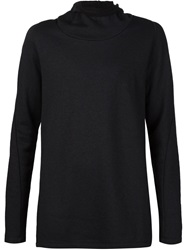 Forme D'expression Loose Turtleneck Sweater Black