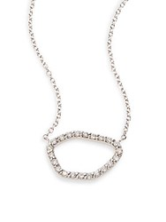 Kc Designs Diamond And 14K White Gold Free Form Pendant Necklace