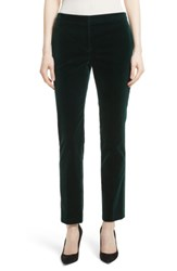 Theory Women's Stretch Velvet Tux Pants Dark Billiard