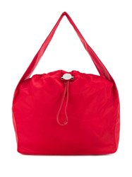 Kara Drawstring Shoulder Bag Red