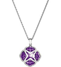 Chopard Imperiale White Gold And Amethyst Long Length Pendant Necklace