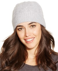 Charter Club Cable Cashmere Cuff Hat Only At Macy's Heather Crystal