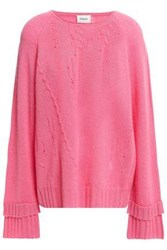 Charli Woman Distressed Cashmere Sweater Pink