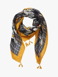 Betty Barclay Floral Print Scarf Black Yellow