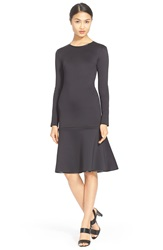 Clover Canyon Long Sleeve Drop Waist Dress Black