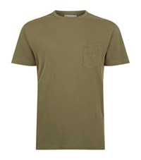 Officine Generale Oxford Pocket T Shirt Male Olive