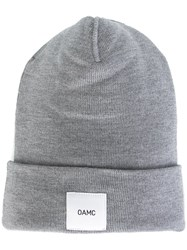 Oamc Logo Patch Beanie Grey