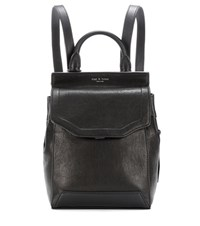Rag And Bone Small Pilot Leather Backpack Black
