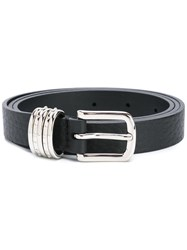 Orciani Square Buckle Thin Belt Black