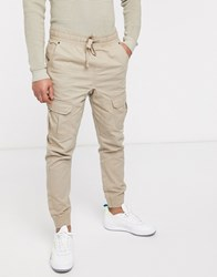 Another Influence Cuffed Cargo Pants Stone