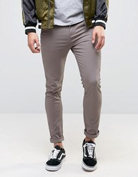 New Look Skinny Chinos In Grey Grey Red