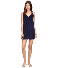 Vilebrequin Lobee Terry V Neck Dress Cover Up Navy