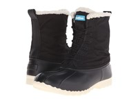 Native Jimmy Winter Jiffy Black Bone White Shoes