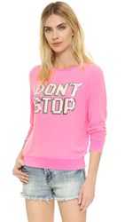 Wildfox Couture Don't Stop Baggy Beach Sweatshirt Party Girl