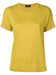 Roberto Collina Round Neck Knitted Top Yellow