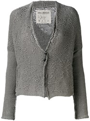 Daniel Andresen Knit Cardigan Women Cotton Linen Flax S Grey