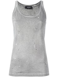 Dsquared2 Microstudded Tank Top Grey