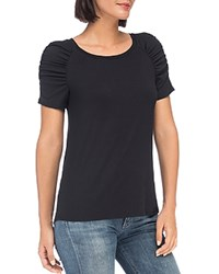 B Collection By Bobeau Thora Puff Sleeve Tee Black