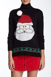 Joseph A Turtleneck Santa Sweater Black