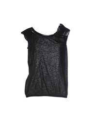 Soho De Luxe Topwear T Shirts Women Black