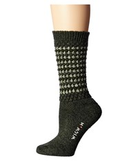 Wigwam Jacy Olive Women's Crew Cut Socks Shoes