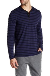 Kenneth Cole Long Sleeve Jersey Henley Shirt Gray