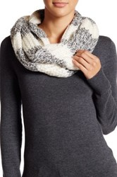 Free Press Striped Knit Sequin Infinity Scarf Black