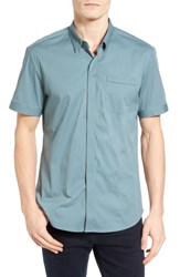 7 Diamonds Men's City Savior Woven Shirt Stormy Sea