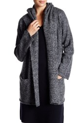 Vince Hooded Knit Cardigan Gray