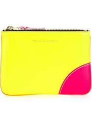 Comme Des Garcons Wallet 'Super Fluo' Pouch Yellow And Orange