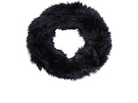 Barneys New York Women's Rabbit Fur Cowl Scarf Navy