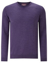 John Lewis Made In Italy Merino Wool Crew Neck Jumper Lilac Melange