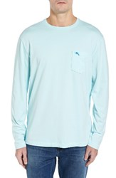 Tommy Bahama Men's Big And Tall 'Bali Skyline' Long Sleeve Pima Cotton T Shirt Oceanfront