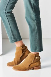 Urban Outfitters Sabine Buckle Wrap Ankle Boot Tan
