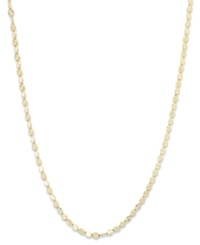 Giani Bernini 24K Gold Over Sterling Silver Necklace 20' Diamond Cut Chain