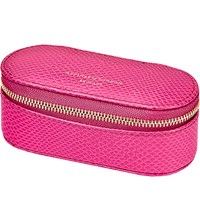 Aspinal Of London Lipstick And Handbag Tidy All Raspberry Lizard Pink