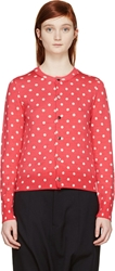 Comme Des Garcons Girl Hot Pink Polka Dot Cardigan