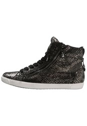 Kennel Schmenger Queens Hightop Trainers Black Gun Gold