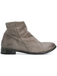The Last Conspiracy Side Stitch Ankle Boots Leather Grey