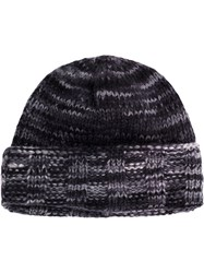 The Elder Statesman Classic Knitted Beanie Hat Cashmere Grey
