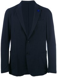 Lardini Patch Pockets Blazer Blue