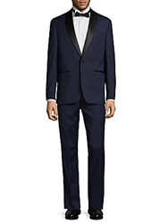Vince Camuto Wool Shawl Lapel Tuxedo Medium Blue